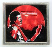 Jimi Hendrix - 'Stage' Prismatic Lapel Badge